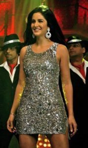 Katrina in Silver Dress