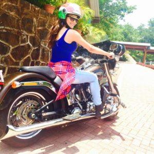 Urvashi Rautela with Harley Devison