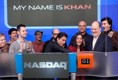 Kajol and Shah Rukh Khan in NASDAQ