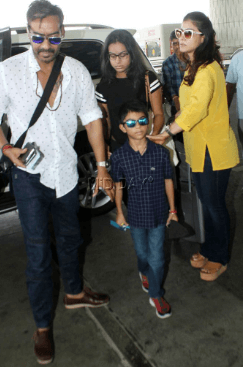 Kajol with her Childrens