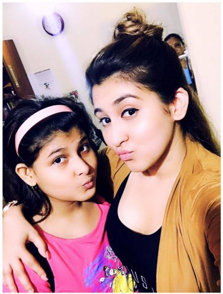 Oindrila with sister