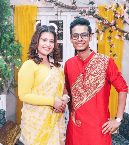kiran dutta with ena saha