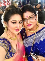 with mom