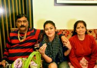 Saayoni Ghosh with parents