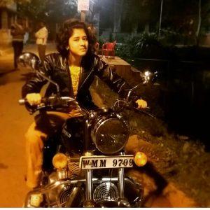 ditipriya with bike