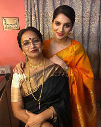 paayel with mother