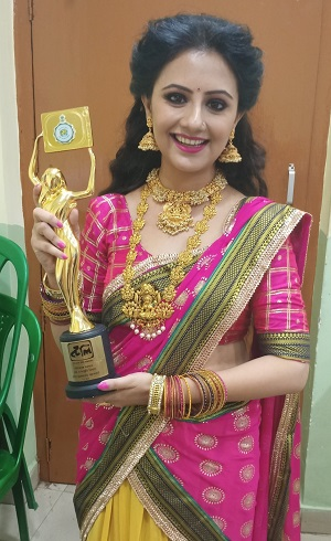Tele Academy Award Best actress award for Nakshi Kantha