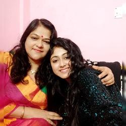 Susmita with mother