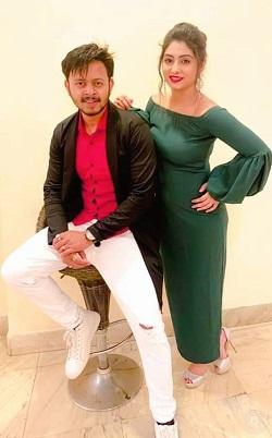 Tiyasha with husband