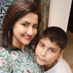 rachana with son