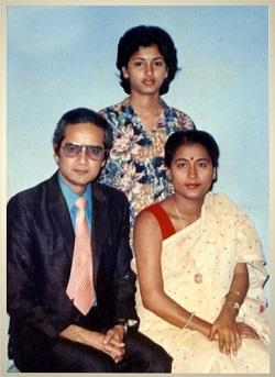 rachana with parents